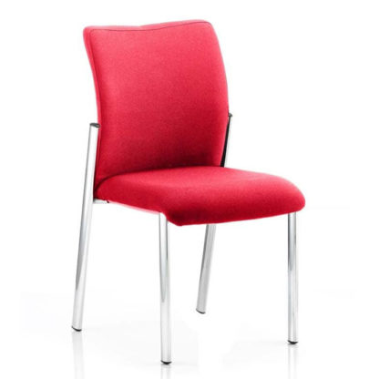 An Image of Academy Fabric Back Visitor Chair In Bergamot Cherry No Arms