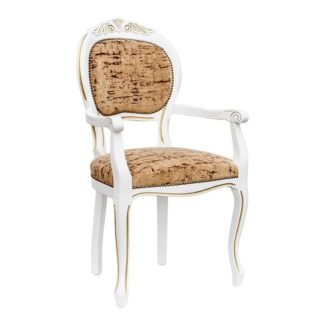 An Image of Crested Spoonback Carver Dining Chair With Wooden Frame
