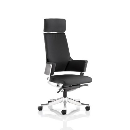An Image of Cooper Office Chair In Black Fabric With High Back