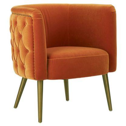 An Image of Intercrus Fabric Tub Chair In Orange