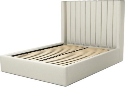 An Image of Custom MADE Cory Double size Bed with Ottoman, Putty Cotton