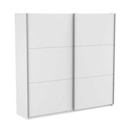 An Image of Selsey Sliding Wardrobe Extra Large In Matt White With 2 Doors