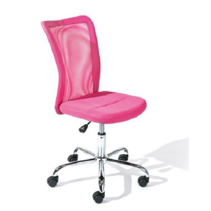 An Image of Bonnie Pink Colour Children Office Chair