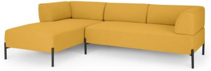An Image of MADE Essentials Kiva Left Hand Facing Chaise End Corner Sofa, Yolk Yellow