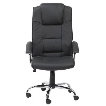 An Image of Hoaxing Office Executive Chair In Black Finish