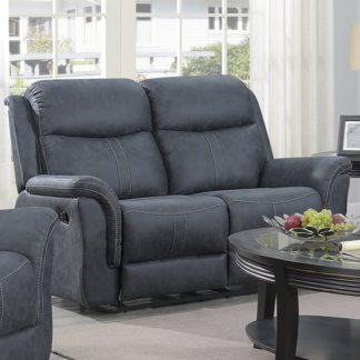 An Image of Proxima Fabric 2 Seater Sofa In Slate Grey