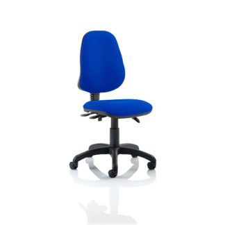 An Image of Redmon Fabric Office Chair In Blue Without Arms