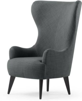 An Image of Custom MADE Bodil Accent Armchair, Smart Grey