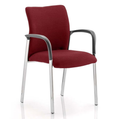 An Image of Academy Fabric Back Visitor Chair In Ginseng Chilli With Arms