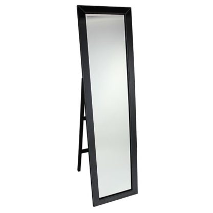 An Image of Cheval Black Frame Freestanding Mirror
