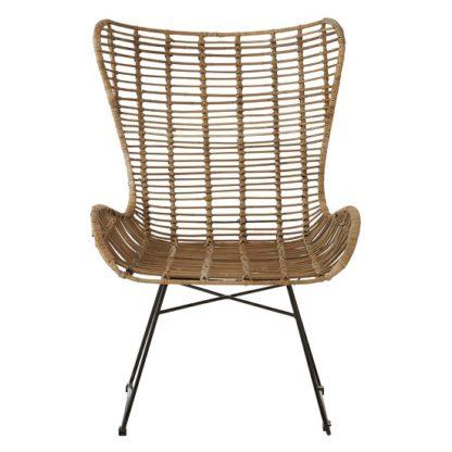 An Image of Felixvarela Iron Base Wing Chair In Grey
