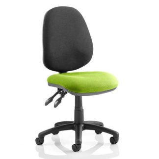 An Image of Luna II Black Back Office Chair In Myrrh Green