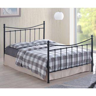 An Image of Alderley Metal Double Bed In Black
