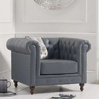 An Image of Propus Lounge Chaise Armchair In Grey