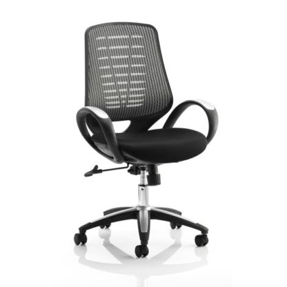 An Image of Sprint Airmesh Office Chair BLK