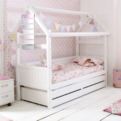An Image of Barney Childrens Playhouse Bed with Trundle