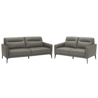 An Image of Belgravia 3 Seater and 2 Seater Leather Sofa