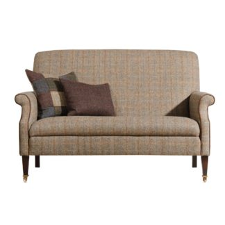 An Image of Harris Tweed Bowmore Highback Compact Sofa