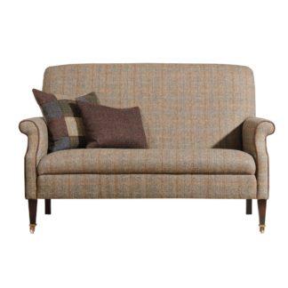 An Image of Harris Tweed Bowmore Highback Compact Sofa