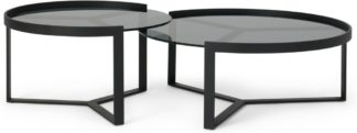 An Image of Aula Nesting Coffee Table, Black & Grey