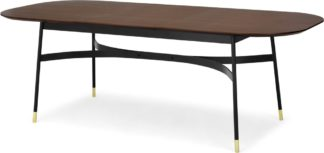 An Image of Amalyn 6-8 Seat Extending Dining Table, Walnut