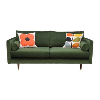 An Image of Orla Kiely Mimosa Small Sofa, Plain Velvet