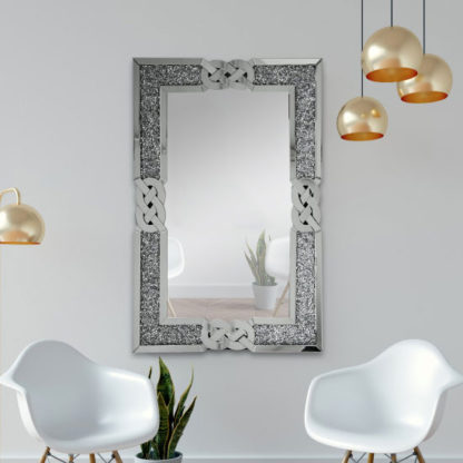 An Image of Marty Designer Rectangular Wall Mirror