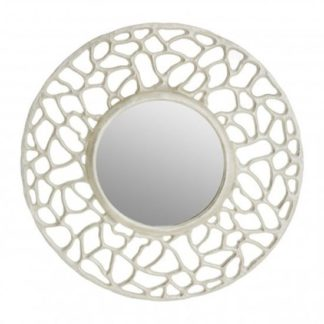An Image of Templars Fusion Effect Wall Bedroom Mirror In Silver Frame