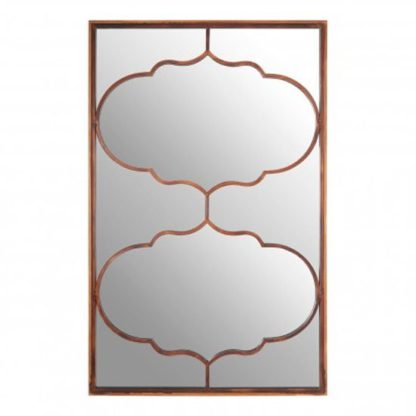 An Image of Zaria Arabesque Wall Bedroom Mirror In Antique Gold Frame