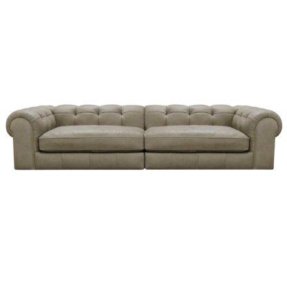 An Image of Blair Leather Split Frame 4 Seater Sofa