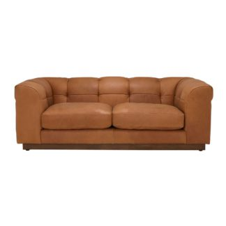 An Image of Whitman 3 Seater Leather Sofa
