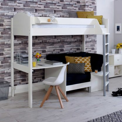 An Image of Nova B Childrens Highsleeper Bed with Desk and Futon
