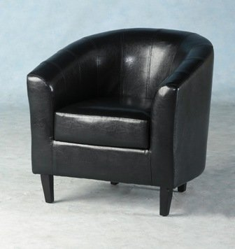 An Image of Tempo Tub Chair in Black