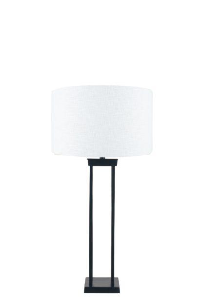 An Image of Lund Table Lamp - Matt Black Metal