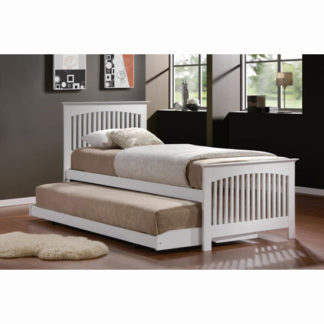 An Image of Toronto White 3' Bed in Rubberwood