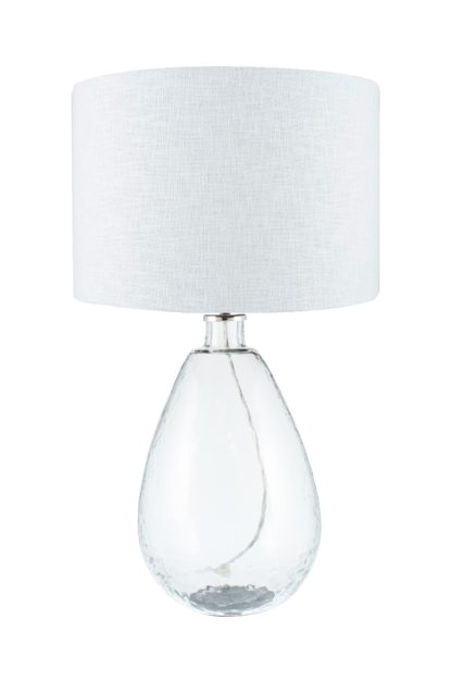 An Image of Benson Table Lamp - Tall Clear Glass