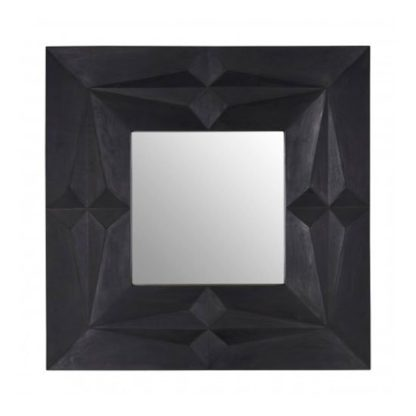 An Image of Sabara Wall Bedroom Mirror In Black Frame