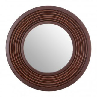 An Image of Coco Wall Bedroom Mirror In Brown Frame