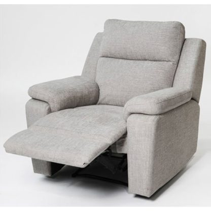 An Image of Jackson Fabric Recliner Armchair In Beige