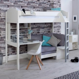 An Image of Nova C Childrens Highsleeper Bed with Desk, Bookcase and Futon
