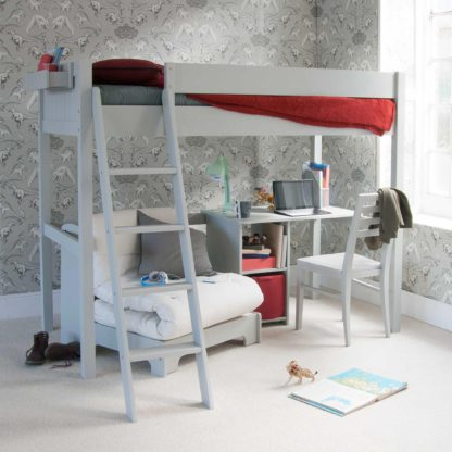 An Image of Pippin Childrens Highsleeper with Futon And Storage Desk