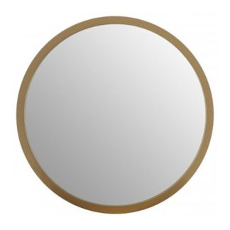 An Image of Athens Small Round Wall Bedroom Mirror In Gold Frame