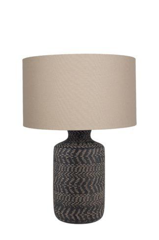 An Image of Nalpur Table Lamp - Black Stoneware