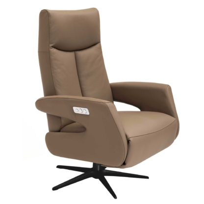 An Image of Sander Electric Recliner Chair, Soleda Muskat