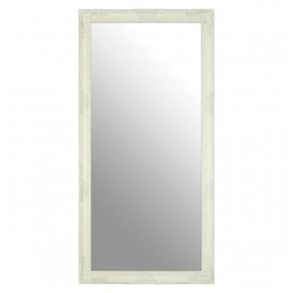 An Image of Zelman Wall Bedroom Mirror In White And Brushed Gold Frame