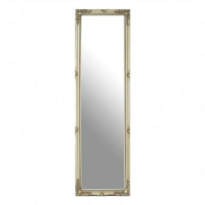 An Image of Zelman Wall Bedroom Mirror In Champagne Frame