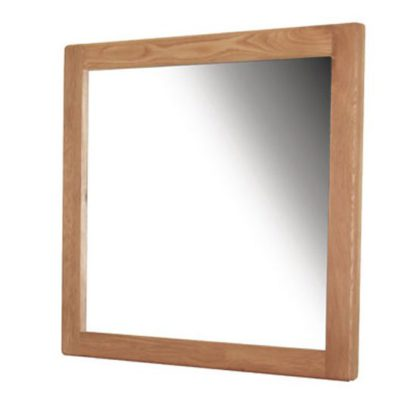 An Image of Hampshire Wall Bedroom Mirror In Oak Frame