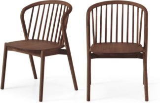 An Image of Tacoma Set of 2 Dining Chairs, Walnut