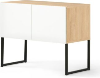 An Image of MADE Essentials Hopkins Sideboard, Oak & White