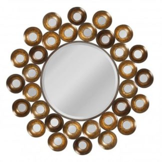 An Image of Tribes Wall Bedroom Mirror In Antique Gold Frame
